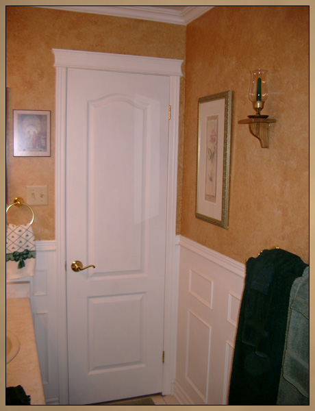 Decorative Wainscoting - White wall moulding panels
