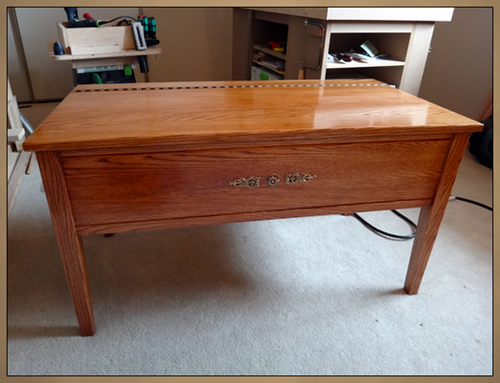 Custom Fine Furniture - Solid Oak Storage Bench