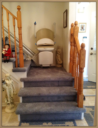 Photo of stairs after custom modification.
