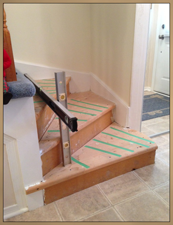 Photo of stairs before custom modification