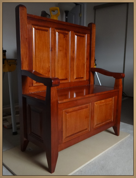 Custom Solid Wood Furniture - Deacon's Bench