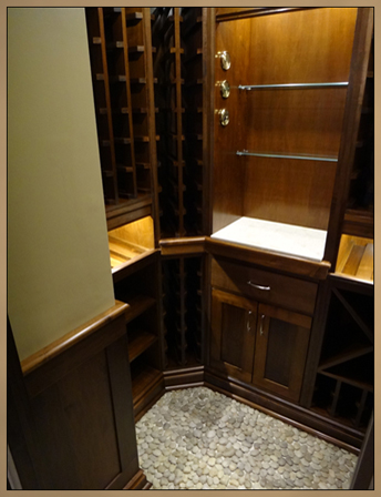 Completed Wine Cellar - Wine Racks, Cabinets and Room