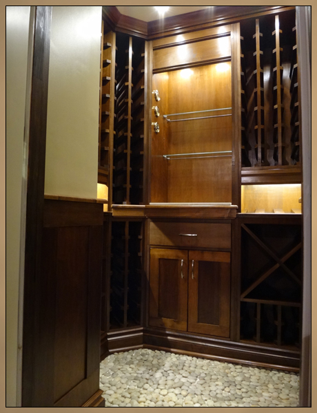 Custom Wine Cellar and Wine Rack Cabinets