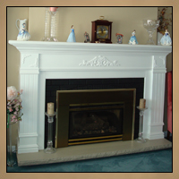 Fireplace Mantel After Image