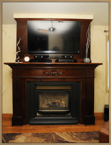 Fireplace Makeover After Fireplace Media Cabinet Installed