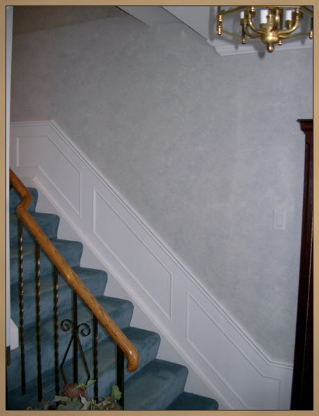 After Wainscoting and Faux Finish Painting Photo